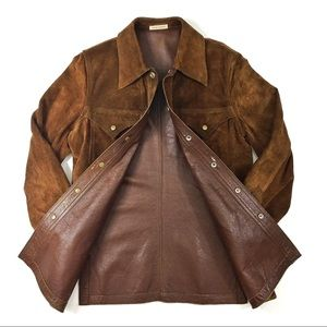 Vintage Custom Made Suede Jacket from Spain